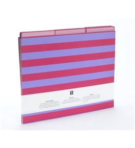 Semikolon Striped A4/Letter Size File Folders, 6-Count, Lilac/Pink (641-02)