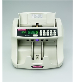 Semacon S-1425 Table Top Bank Grade Currency Counter with Batching, UV/MG Counterfeit Detection
