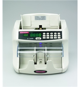 Semacon S-1450 Table Top Bank Grade Currency Counter with Batching, Dust Reduction System, UV/MG Counterfeit Detection