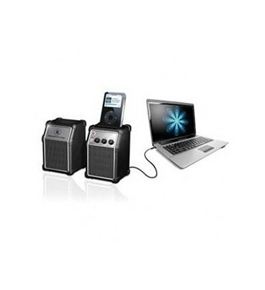 Set of 2 Computer Speakers with MP3 Dock