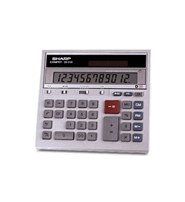 Sharp QS-2130 12 digit LCD display and Adding Machine Logic