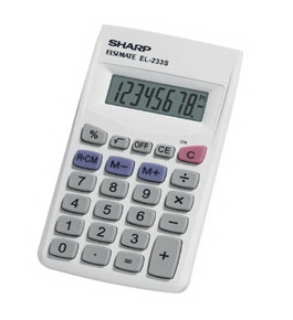 Sharp EL-233SB 8 Digit Handheld Calculator