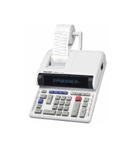 Sharp CS-2850 12 digit, 2-color print/adjustable display calculator
