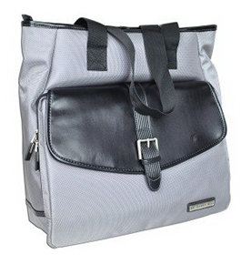 Sharper Image Unisex Tote Bag Gray with Black Trim