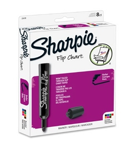 Sharpie Flip Chart Markers, 8 Colored Markers(22478)