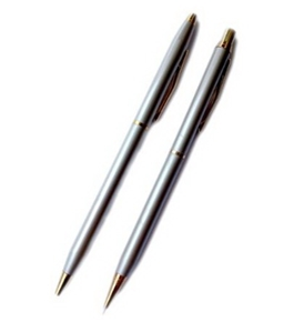 Silver Pen and Pencil Set