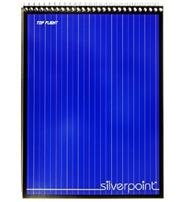 Silverpoint Steno Book, Gregg Rule, Heavy Back, 6 x 9 Inches, 120 Sheets, Protective Cover, Blue/Black (51076)