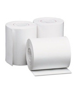 "Single-Ply Thermal Paper Rolls, 2-1/4"" x 80 ft, White, 50/Carton by UNIVERSAL"