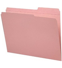 Smead 2/5-Cut Right Position File Folders, Heavy Duty Reinforced Tab, Letter Size, Pink, 100 Per Box (12686)