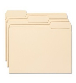 Smead Manila Folder, Letter Size, 11 Point, 1/3-Cut Tab, 100 per Box (10330)