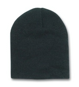Solid Short Beanie Cap, Black
