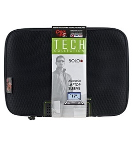 "Solo Tech Collection TCB102-4 CheckFast X-Ray Friendly Airmesh Neoprene Notebook Sleeve -17"" (Black)"