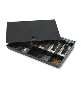 Sparco Money Tray, with Locking Cover, 16 x 11 x 2-1/4 Inches, Black (SPR15505)
