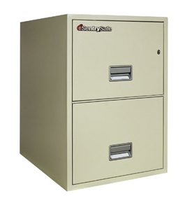 "Sentry 2G2510 2 Drawer, 25"" Deep Fireproof Impact Resistant Vertical Legal File"