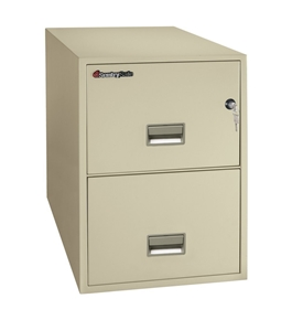 "Sentry 2G2531 2 Drawer 25"" Deep Fire Impact And Water Resistant Vertical Legal File"