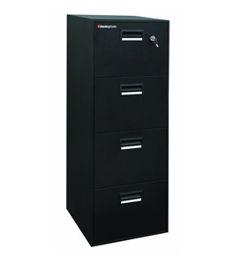 Sentry 4B2100B 4-Drawer, Letter, Fire Resistant, Water Resistant, Digital Media, Black