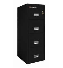 Sentry 4T3120 4 Drawer Letter - Fire and Impact Resistant - 2 hour rated