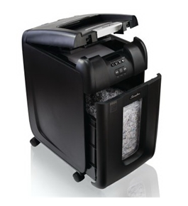Stack-and-Shred™ 300M Hands Free Shredder, Micro-Cut, 300 Sheets, 5-10 Users