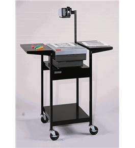 Stand-Up, Adjustable Height, Steel Overhead Projector Table Color: Black