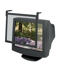 "Standard Glare Filter Screen, For 16""-17"" Monitors, Black, Sold as 1 each"