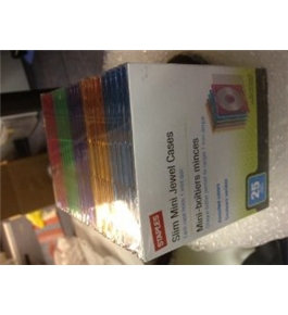 Staples Slim Mini Jewel Cases Assorted Colors