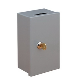 SteelMaster Drop-In Key Control Boxes, Keyed Differently, 4.38 x 7.25 x 3.25 Inches, Gray (201980001)