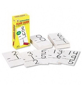 Subtraction Facts 0-9 Flash Cards w/Round Corners