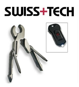 Swiss+Tech Micro Pro XL 11-in-1 Key Ring with LED Light