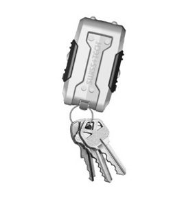 Swiss+Tech TFCSCR-PS Transformer Xi KeyChain MultiTool with Flashlight, Screwdriver, Work Light LEDs
