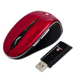SwissGear The Pantera II Wireless Optical Mini Mobile Mouse (Red) [CD] [CD-ROM]