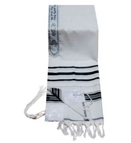 Tallit Prayer Shawl 18/72 Black Silver or Gold Imported From Israel
