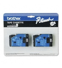 Brother TC10 1/2 Inch Black on Clear Tape
