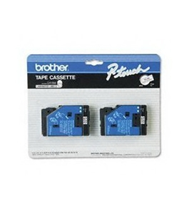 Brother TC20 1/2 Inch Black On White P-Touch Tape