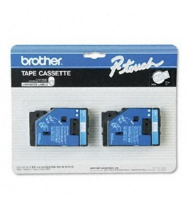 Brother TC22 1/2 Inch Blue on White P-Touch Tape