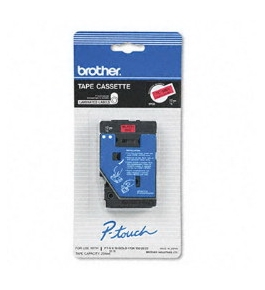 Brother TC5001 1/2 Inch Black on Red P-Touch Tape
