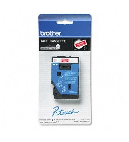 Brother TC54Z1 3/8 Inch White on Red P-Touch Tape