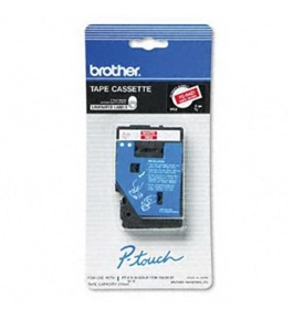 Brother TC6001 1/2 Inch Black on Blue P-Touch Tape
