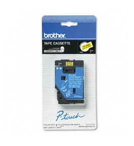 Brother TC7001 1/2 Inch Black on Yellow P-Touch Tape