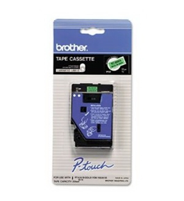 Brother TCD001 1/2 Inch Black On Flourescent Green P-Touch Tape