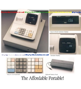 TEC Battery Operated MA156 Cash Register with Battery pack
