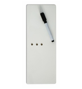 Three By Three Seattle Dry Erase Magnet Board, 4 x 11 Inches, White, 1 Pack (33001)