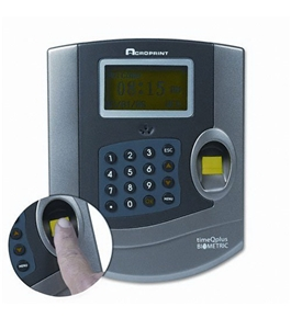 Time/Attendance Biometric System, for 125 Employees, Gray, Sold as 1 each
