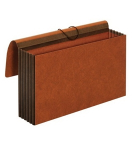TOPS Globe-Weis Accordion Wallet, 5.25 Inch Expansion, Straight Cut, Legal Size, Brown (CL1076GLHD)