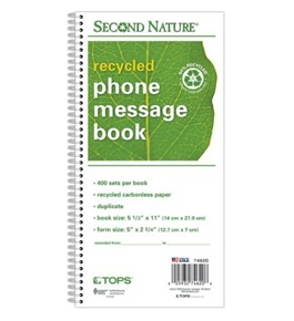 TOPS Message/Phone Call, Carbonless Duplicate, 2.75 x 5 Inches, 400-Set Book (74620)