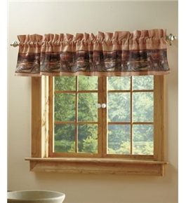 Tranquil Deer Cabin Woods Rustic Decor Tapestry Valance Curtain Brand New