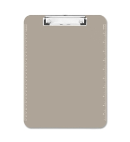 "Transparent Plastic Clipboard, Flat Clip, 9""x12-1/2"", Smoke (SPR01870)"