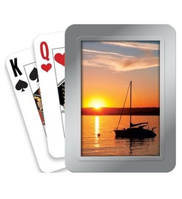 Tree-Free Greetings Picture Perfect Deluxe Playing Cards, Multicolored (71093)
