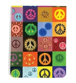 Tree-Free Greetings Pocket Pad, 128 Pages with Sewn Binding, Recycled, 3.5 x 4.5 Inches, Peace is Ever