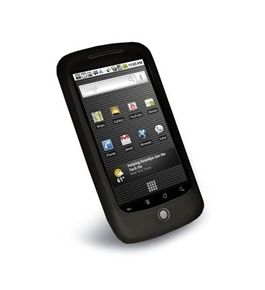 Tuff-Luv Slim&Lite Silicone skin case cover for Google Nexus One (black)