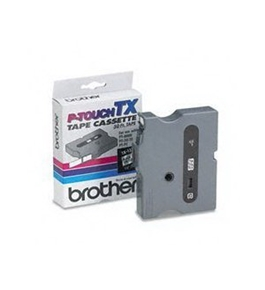 Brother TX1311 Black on Clear P-Touch Tape